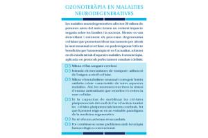 Ozonoteràpia en Malaties Neurodegeneratives